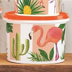 Tupperware Caixa Flamingo 1,1Litro Laranja