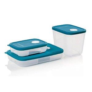 Tupperware Freezertime Turmalina Paraíba Kit 3 peças