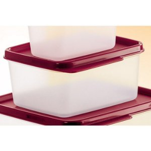 Tupperware Basic Line 500ml Transparente Tampa Marsala
