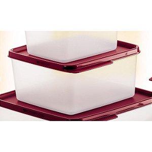 Tupperware Basic Line 1,2 litro Transparente Tampa Marsala