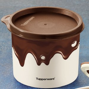 Tupperware Redondinha Chocolate 500ml