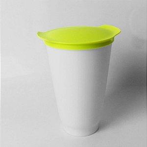 Tupperware Copo Allegra Verde e Branco 450ml