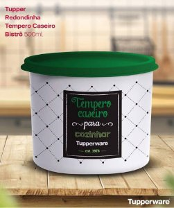 Tupperware Redondinha Tempero Caseiro Bistrô 500ml