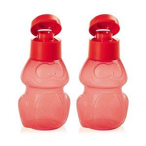 Tupperware Eco Kids Garrafa Sapo Vermelho 2 peças