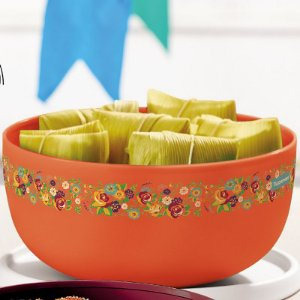 Tupperware Tigela Toque Mágico Arraiá 2,5 litros Laranja