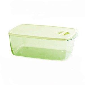 Tupperware Cristalware Retangular Verde Policarbonato 3,5 litros
