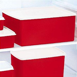 Tupperware Espaçosa Plus Vermelho 6,5 litros