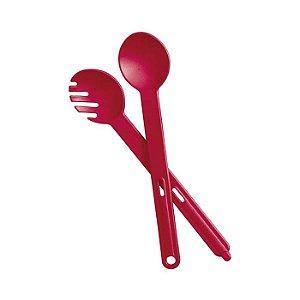 Tupperware Colher + Garfo Redondo marsala