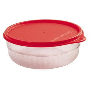 Tupperware Tigela Premier 500ml Transparente Tampa Vermelha