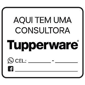 """Placa """"Aqui tem um(a) consultor(a) Tupperware"""" em PVC"""
