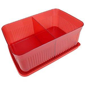 Tupperware Porta Petisco 1,75 litro Vermelho