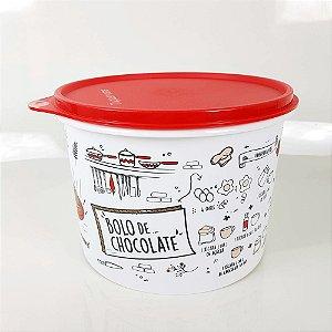 Tupperware Caixa Livro de Receitas 2,4 Litros - Bolo de Chocolate