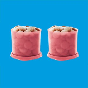 Tupperware Redondinha Guava 500ml Kit 2 peças