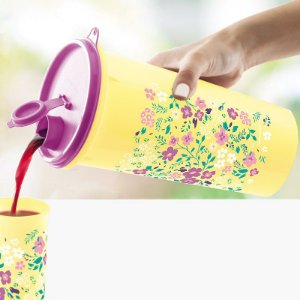 Tupperware Guarda Suco Flores do Campo 1,4 litro