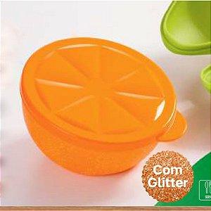 Tupperware Porta Frutas Laranja com Glitter 300ml