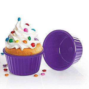 Tupperware Micro Cook Cupcake Kit 2 peças roxo