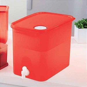 Tupperware Galão Modular 8,7 litros Vermelho