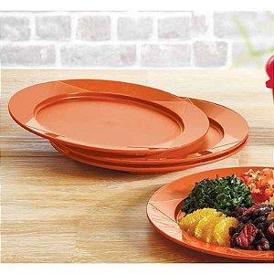 Tupperware Prato Outdoor Laranja Kit 2 peças