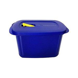 Tupperware Cristalwave Quadrado Geração II 2,3 litros Azul