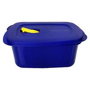 Tupperware Cristalwave Quadrado Geração II 1,7 litro Azul