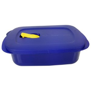 Tupperware Cristalwave Retangular Azul 1 litro
