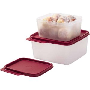 Tupperware Basic Line 1,2 litro + 500ml Tampa Marsala
