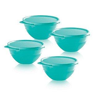 Tupperware Tigela Maravilhosa 500ml Kit 4 peças Verde