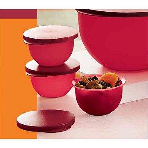Tupperware Tigela Murano Marsala Kit 3 peças