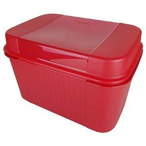 Tupperware Visual Box com Bandeja 4,5 litros Vermelho