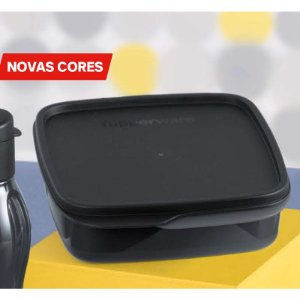 Tupperware Basic Line Com Divisórias Preto 550ml