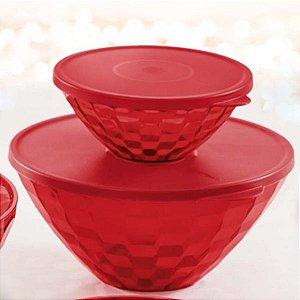 Tupperware Tigela Prisma 2 litros Vermelho