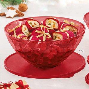 Tupperware Tigela Prisma 3,5 litros Policarbonato Vermelho