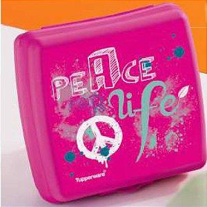 Tupperware Porta Sanduíche Peace Rosa