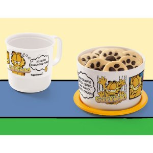Tupperware Caneca Garfield 350ml + Mini Instantânea 575ml