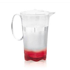 Tupperware Jarra Super Luxo 2 litros Transparente e Vermelho