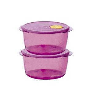 Tupperware Cristalware 2 litros Kit 2 peças Rosa