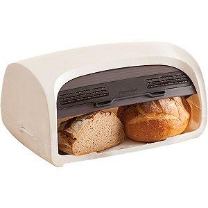 Tupperware Porta Pão Smart Branco e Preto