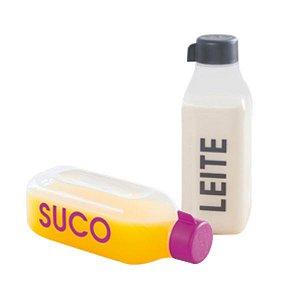Tupperware Eco Tupper Garrafa Quadrada Suco + Leite 1 litro