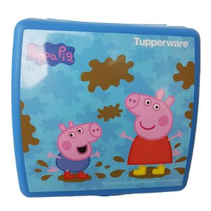 Tupperware Porta Sanduíche Peppa Pig