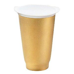Tupperware Copo Allegra  Dourado 450ml