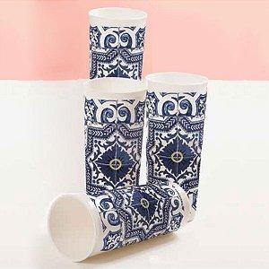 Tupperware Copo Azulejos 470ml Kit 4 peças