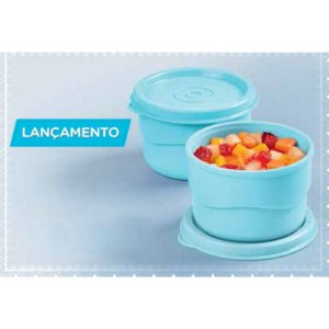 Tupperware Potinho Azul Kit 2 peças