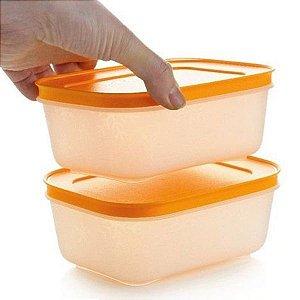 Tupperware Freezer Line 450ml Kit 2 peças Papaya