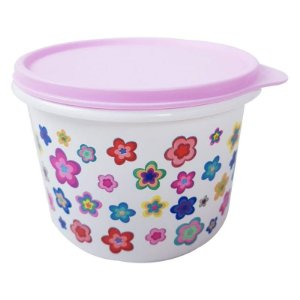 Tupperware Caixa Flores 1,1 litro Rosa