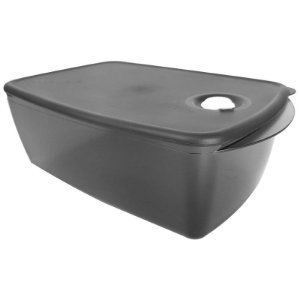Tupperware Cristalware Retangular Preto Policarbonato 3,5 litros