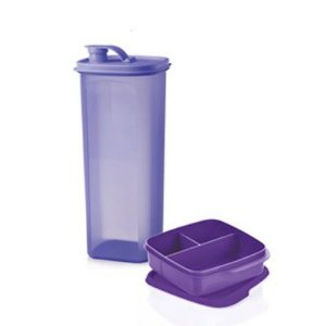 Tupperware Guarda Suco Slim 2 Litros + Basic Line 550ml Roxa