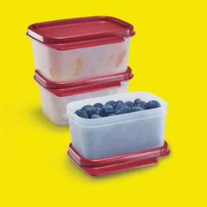 Tupperware Basic Line 160ml Tampa Marsala Kit 3 peças