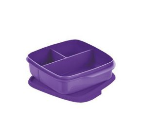 Tupperware Basic Line Com Divisórias Roxo 550ml