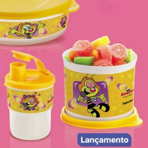 Tupperware Redondinha Zuzubalândia 500ml + Copo Colors 225ml
