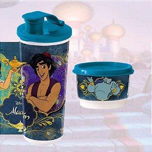 Tupperware Copo com Bico Aladdin e Jasmine 470ml + Potinho Gênio 140ml